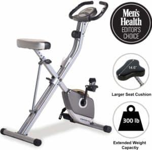 Exerpeutic Folding Magnetic Upright Exercise Bike