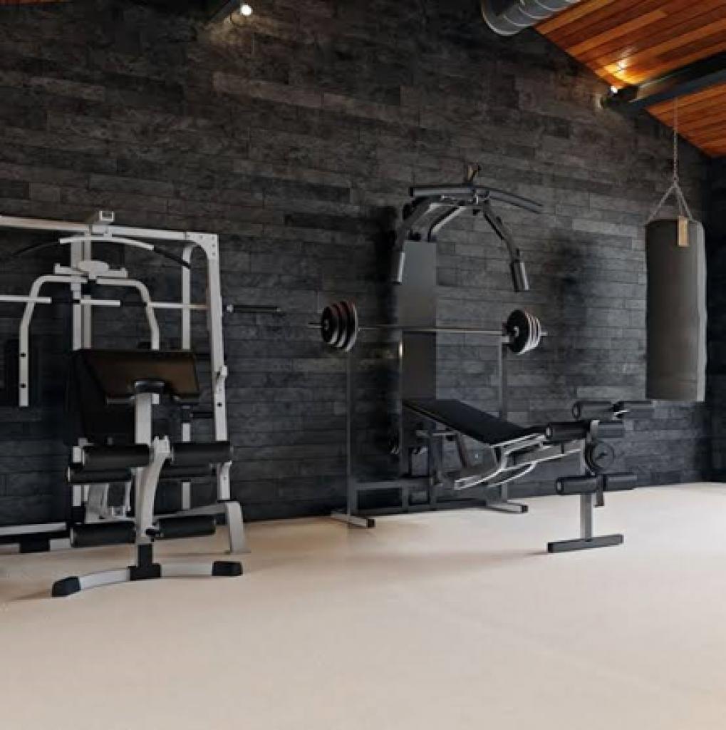 Spacious Home Gym Setup