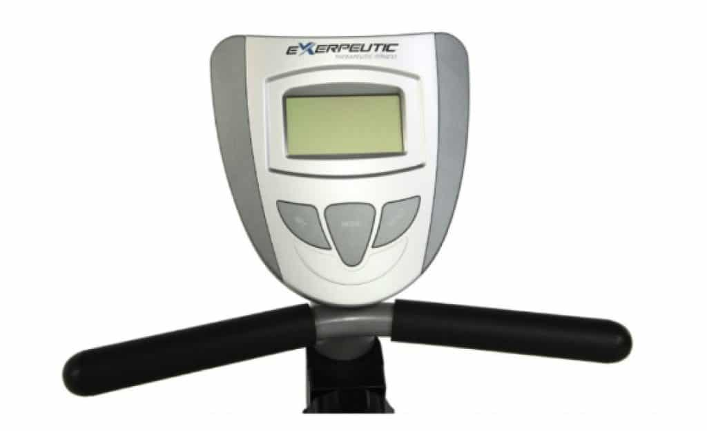 """3. 5"""" large LCD of exerpeutic 900XL exercise bike"""