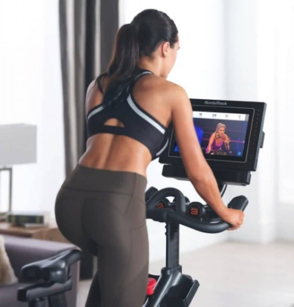 Female-using-NordicTrack-S15i-Studio-Cycle