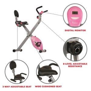 Full image of magnetic folding recumbent exercise bike SF-RB1117