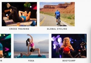 Various live programs on iFit app