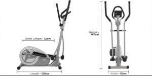 Measurements of JLL CT300 Cross Trainer