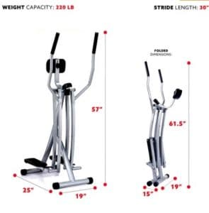 Foldable Cross Trainer from Sunny Health & Fitness