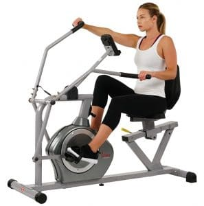 Sunny health & fitness magnetic recumbent Elliptical - SF-RB4708